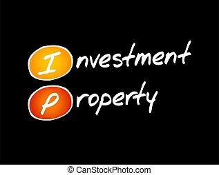 -, business, propriété, intellectuel, acronyme, concept, ip