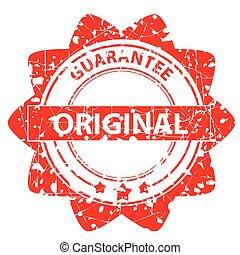-, caoutchouc, original, timbre