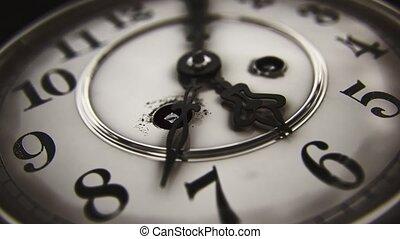 -, classe, figure, 5, noir, 6, horloge, vendange, passé