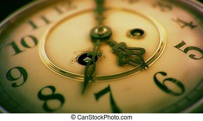 -, classe, figure, 5, vibrant, 6, horloge, vendange, passé