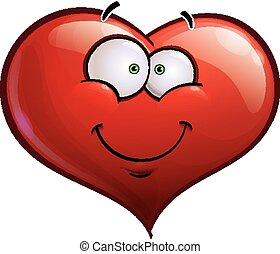 -, coeur, emoticons, sourire heureux, faces