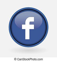 -, collection, populaire, logo, imprimé, facebook., mars, blanc, paper:, 2, turquie, 2019:, istanbul, média, social