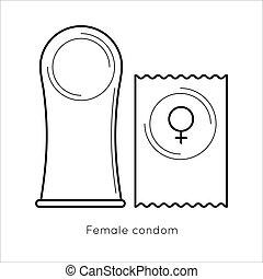 -, condom., femme, contraception, méthode