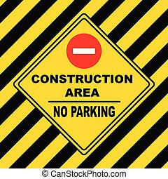 -, construction, stationnement, non, secteur