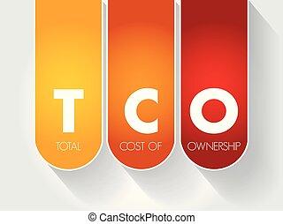 -, cout, acronyme, total, propriété, tco