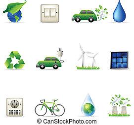 -, environnement, icônes, toile