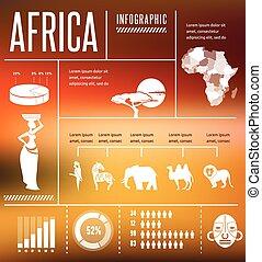 -, fond, afrique, infographics