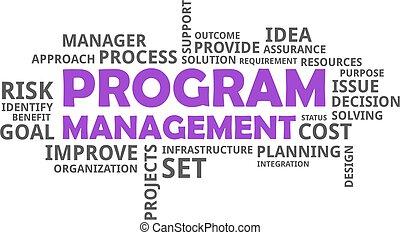 -, gestion, programme, mot, nuage