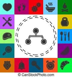 -, hiérarchie, structure, diagramme, icône, organisation