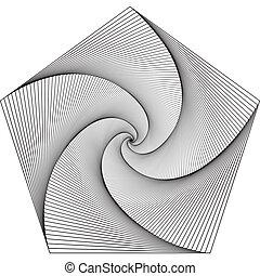 -, infinité, spirale, hypnotique, pentagram