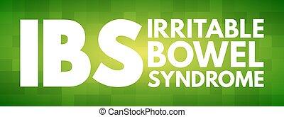 -, intestin, ibs, syndrome, acronyme, irritable