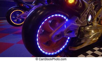 -, jeu, machine, arcade, hd, lumière néon