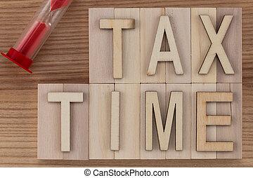 -, lettres, sablier, temps, bois, impôt, texte, blocs, vendange
