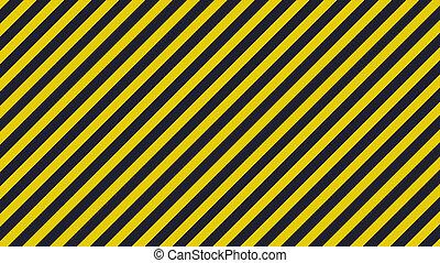 -, lignes, diagonal, signe jaune, avertissement, noir