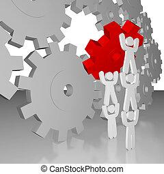 -, métier, collaboration, compléter