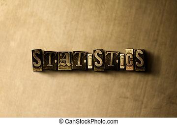 -, mot, grungy, composer, gros plan, toile de fond, statistiques, vendange, métal