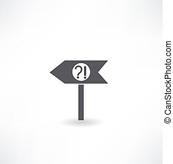 -, pillar., signe, vert, flèche, route