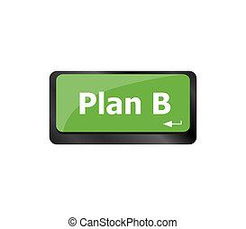 -, plan, b, concept, ordinateur gestion, clã©, clavier