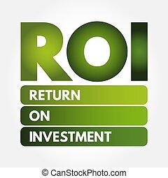 -, roi, acronyme, retour, investissement