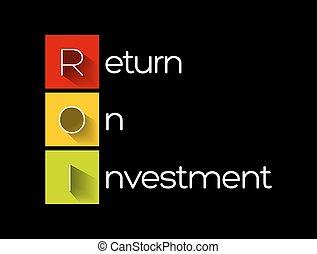 -, roi, retour, acronyme, investissement
