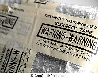 -, sécurité, avertissement, bande