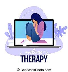 -, santé, thérapie, coaching., mental, ligne