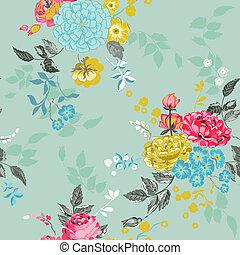-, seamless, vecteur, fond, floral, album, conception