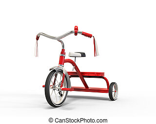 -, studio, tricycle, rouges, coup