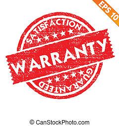 -, vecteur, garantie, tamponnez collection, eps10, autocollant, illustration