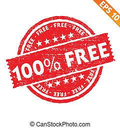 -, vecteur, timbre, gratuite, collection, eps10, autocollant, illustration