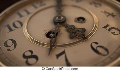 -, version, figure, 5, vendange, 6, horloge, plat, passé