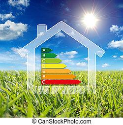 -, wattage, consommation, maison, énergie