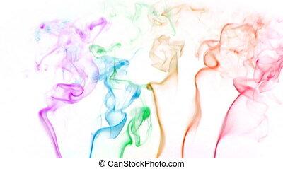01, couleur, fumée