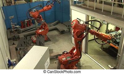 01., industriel, robots