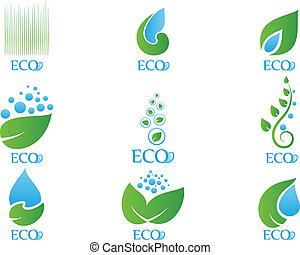 02, écologie, ensemble, icône