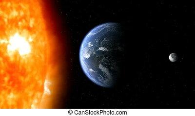 02, la terre, lune, soleil
