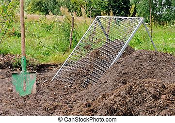 03, compost, crible, tas