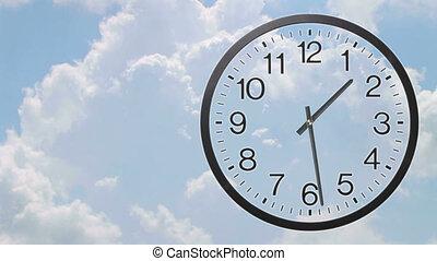 03, défaillance, temps, nuages, horloge