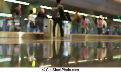 1, aéroport, doha, gens