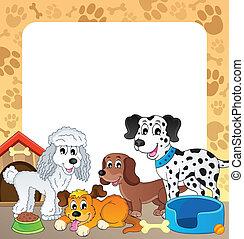 1, cadre, thème, chien