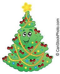 1, décoré, arbre, noël