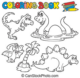 1, dinosaures, livre coloration