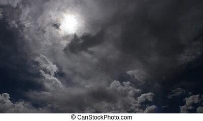 1, nuages, gris
