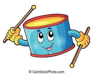 1, percussion, thème, tambour, image