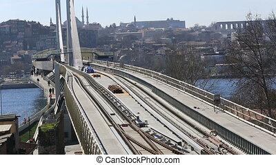 1, pont, station, train, métro
