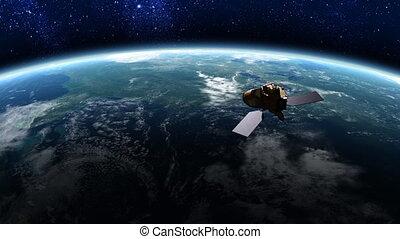 1, satellite, orbite