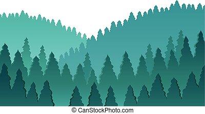 1, thème, forêt, image