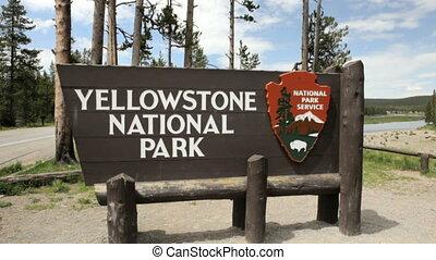 1, yellowstone parc national, signe