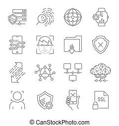 10, compte, autorisation, assurer, personnel, icônes, login, editable, site, figure, accès, security., protection, utilisateur, ligne, interface, eps, données, reconnaissance, stroke.