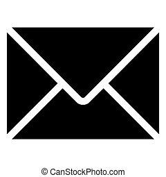 10, enveloppe, eps, arrière-plan., vecteur, noir, blanc, icône